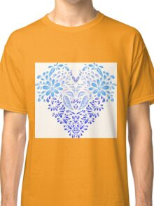Stylized heart of floral motifs Classic T-Shirt