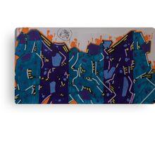 Graffiti and colour  Canvas Print