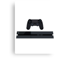 This Is For The Players - PS4 Console & Controller Black Canvas Print
