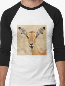 Impala Fun - Wildlife Humor from Africa.  Men's Baseball ¾ T-Shirt