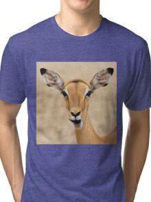 Impala Fun - Wildlife Humor from Africa.  Tri-blend T-Shirt
