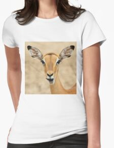 Impala Fun - Wildlife Humor from Africa.  Womens Fitted T-Shirt