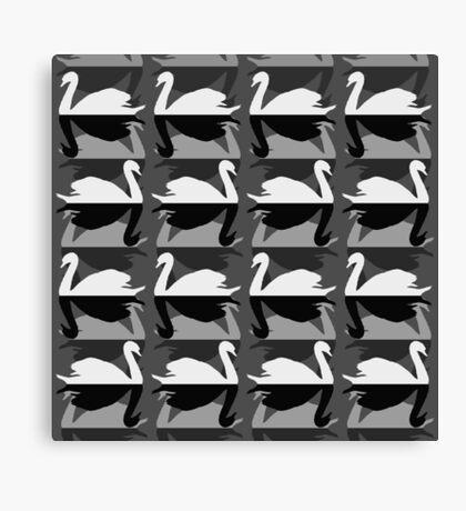 Monochrome Swans Canvas Print