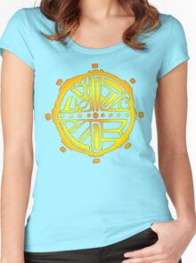 Tribal Circle Sun Women's Fitted Scoop T-Shirt