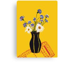 Bright flower bouquet Canvas Print