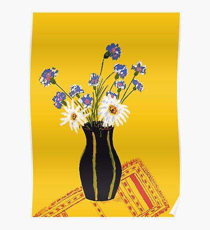 Bright flower bouquet Poster
