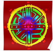 Tribal Circle Acid Sun  Poster