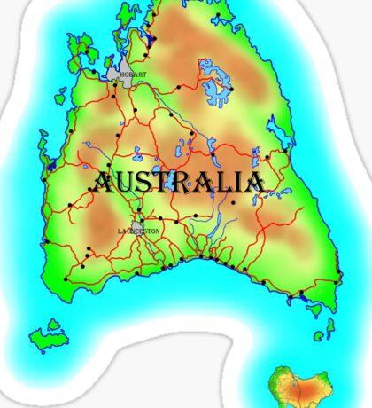 Tasmania's Australia Sticker