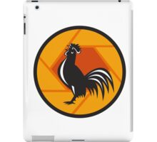Rooster Crowing Shutter Circle Retro iPad Case/Skin