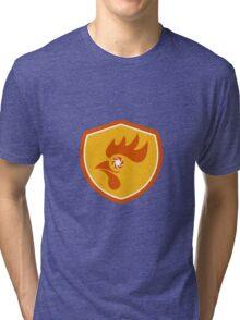 Rooster Eye Shutter Crest Retro Tri-blend T-Shirt