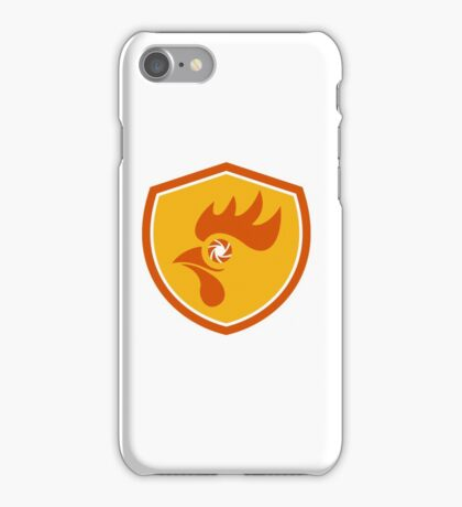 Rooster Eye Shutter Crest Retro iPhone Case/Skin