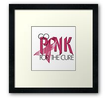 Go PINK For The Cure Framed Print