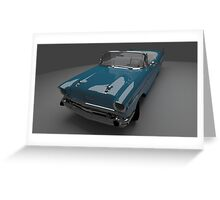 57 Chevy - Car Rendering Greeting Card