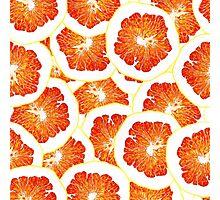 continuous pattern of orange slices Photographic Print