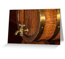 Beer Barrel Greeting Card