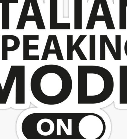 Italian Speaking Mode On Sticker