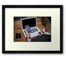 Blogger Framed Print