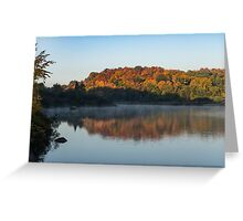 Misty Fall Morning -  Greeting Card