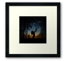catch a star  Framed Print