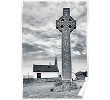 Contrasts - North Berwick Celtic Cross Poster