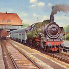 Ex-Prussian P8 4.6.0 on a passenger train by Mike Jeffries
