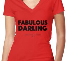Absolutely Fabulous - Fabulous Darling Women's Fitted V-Neck T-Shirt