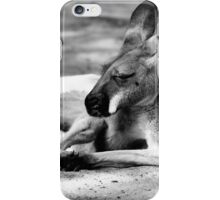 Sleeping Kangaroo Black and White iPhone Case/Skin
