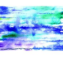 Watercolor texture, background, tie dyed. Photographic Print