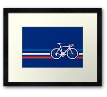 Bike Stripes French National Road Race v2 Framed Print