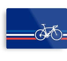 Bike Stripes French National Road Race v2 Metal Print
