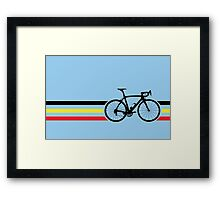 Bike Stripes Belgian National Road Race v2 Framed Print