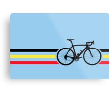 Bike Stripes Belgian National Road Race v2 Metal Print