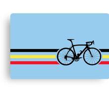 Bike Stripes Belgian National Road Race v2 Canvas Print