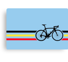 Bike Stripes Belgian National Road Race v2 Canvas Print