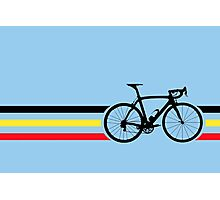 Bike Stripes Belgian National Road Race v2 Photographic Print