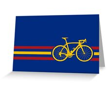 Bike Stripes Spanish National Road Race v2 Greeting Card