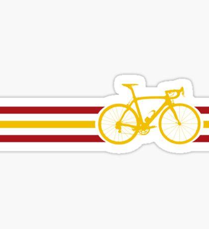 Bike Stripes Spanish National Road Race v2 Sticker