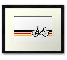 Bike Stripes German National Road Race v2 Framed Print