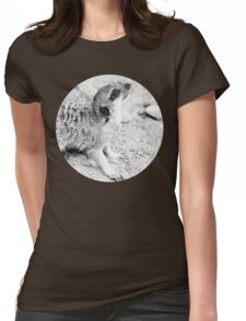 Monochrome Suricate Womens Fitted T-Shirt