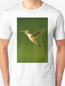 Female Hummer Up Close In Flight Unisex T-Shirt