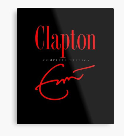 Men's Eric Clapton Complete Clapton Cover Short Sleeve T-Shirt Metal Print
