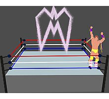 Ultimate Warrior pyro wrestling ring Photographic Print
