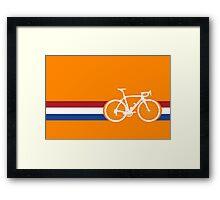 Bike Stripes Netherlands National Road Race Framed Print