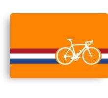 Bike Stripes Netherlands National Road Race Canvas Print