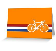 Bike Stripes Netherlands National Road Race Greeting Card