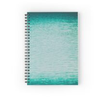 Clear And Calm Blue Ocean Water Spiral Notebook