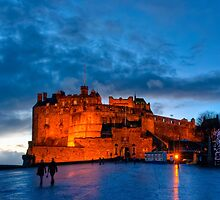 Edinburgh Castle at Dusk by Mark Tisdale
