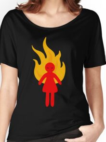 Angry Girl Women's Relaxed Fit T-Shirt