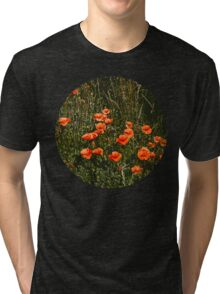 Poppy Field Tri-blend T-Shirt