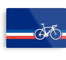 Bike Stripes French National Road Race Metal Print